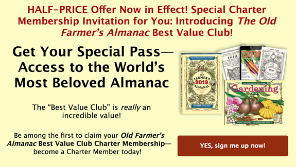 Get Your Special Pass -- Access to the World's Most Beloved Almanac