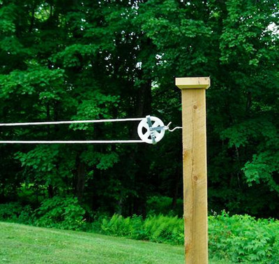 Clothesline Pulley Instructions Advice Cleaning The Old