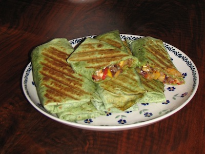 Grilled Caponata Wraps
