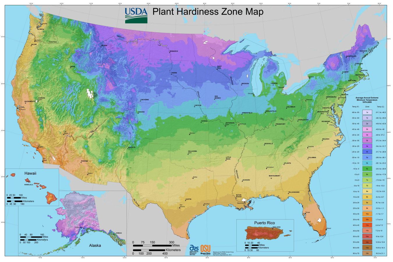 Plant Hardiness Zone Map Garden Seed Packet Controversy The - Us climate map zone