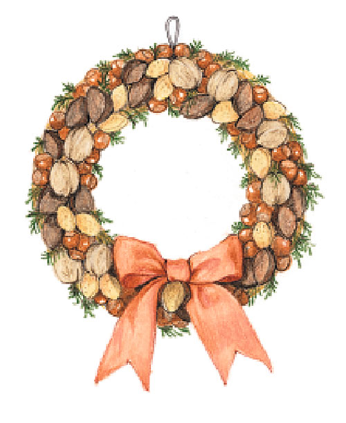 Holiday Decorations Homemade Wreath Nuts Holiday Crafts