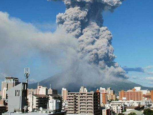 volcano  eruption  weather  mount sakurajima  kagoshima