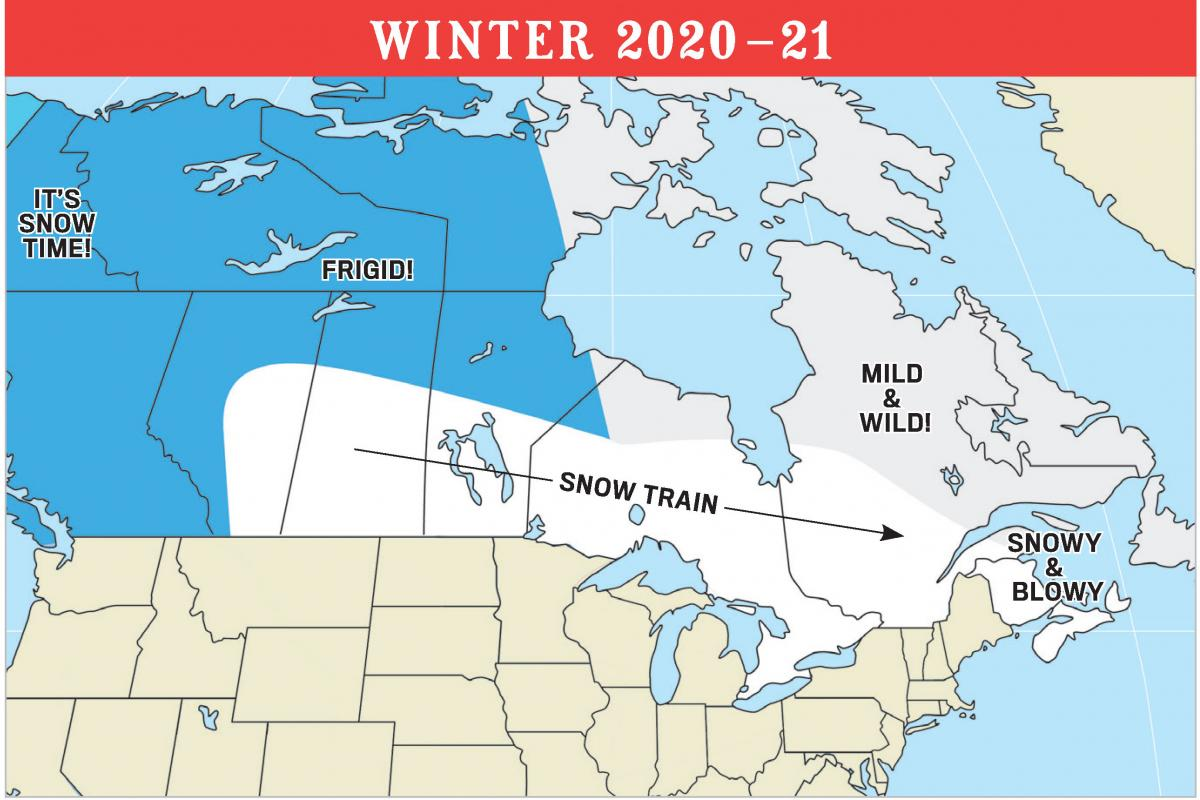Winter Weather Forecast 2021 by The Old Farmer's Almanac