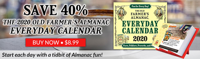 The 2020 Old Farmer's Almanac Everyday Calendar
