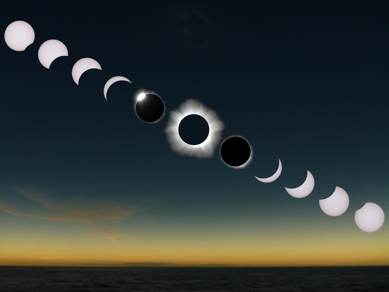 Total Solar Eclipse Sequence