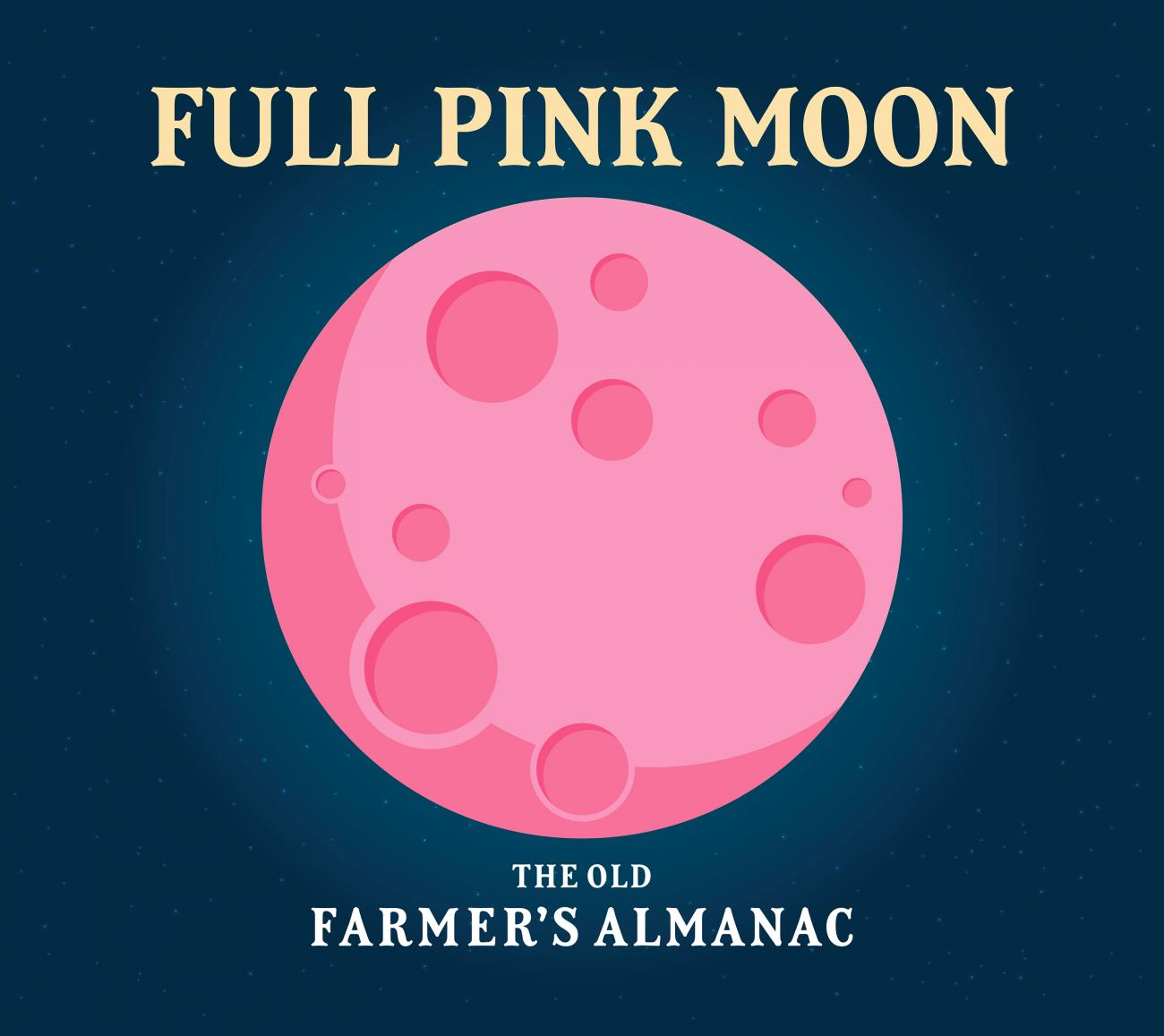 Full Moon for April 2020: The Full Pink Moon | The Old