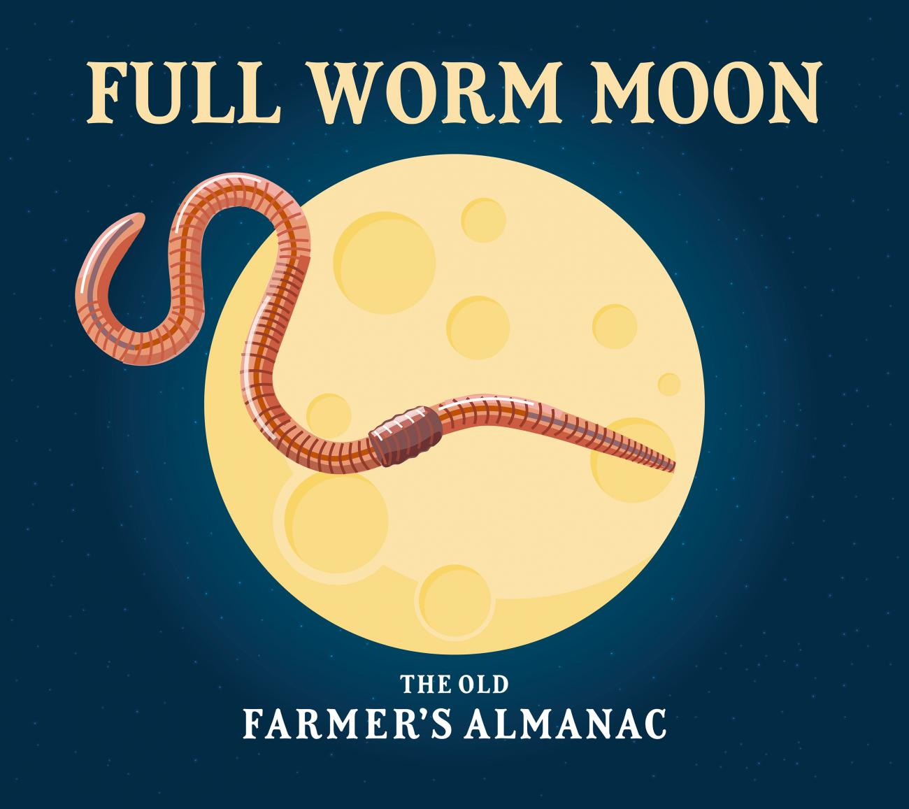 Full Moon for March 2020: The Full Worm Moon | The Old Farmer's Almanac