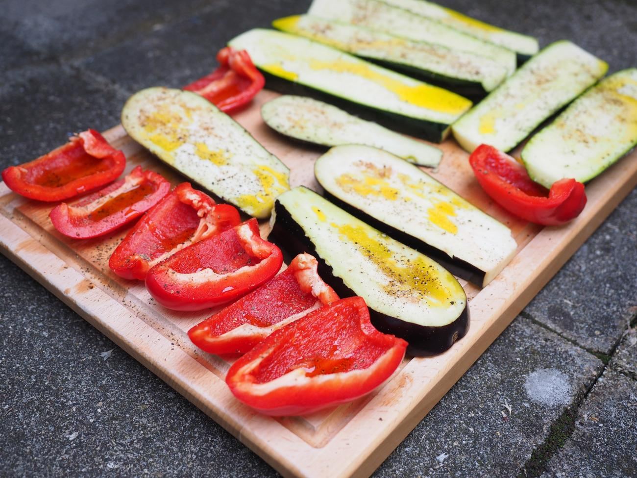 Grilled Vegetables Preparation