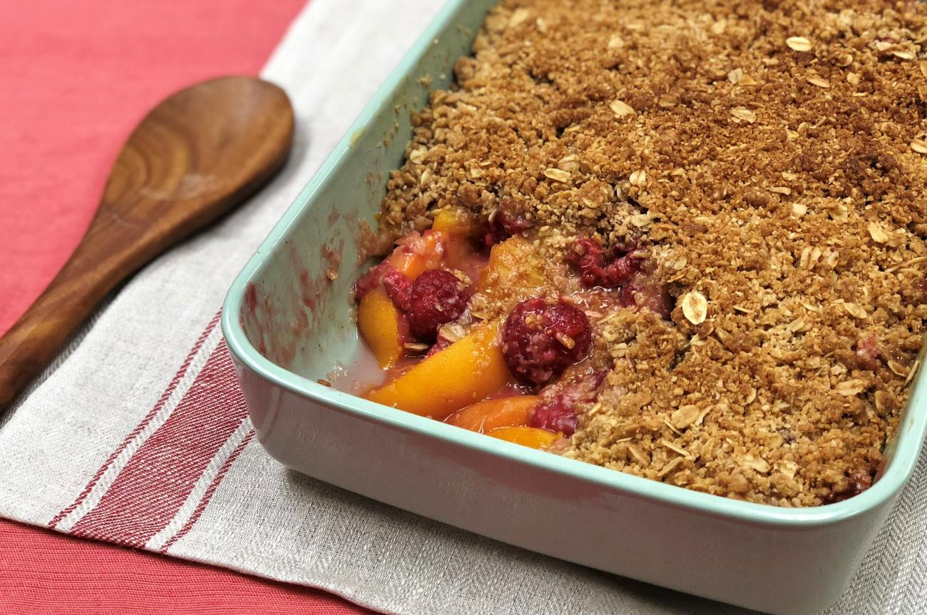 Peach Raspberry Crunch