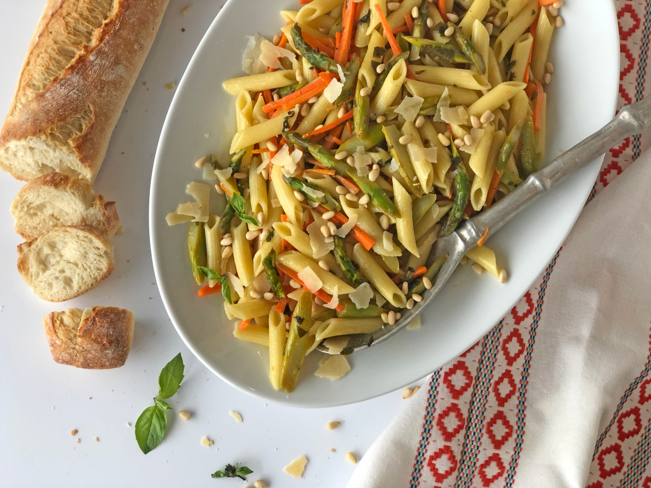 Penne-With-Carrots-Asparagus