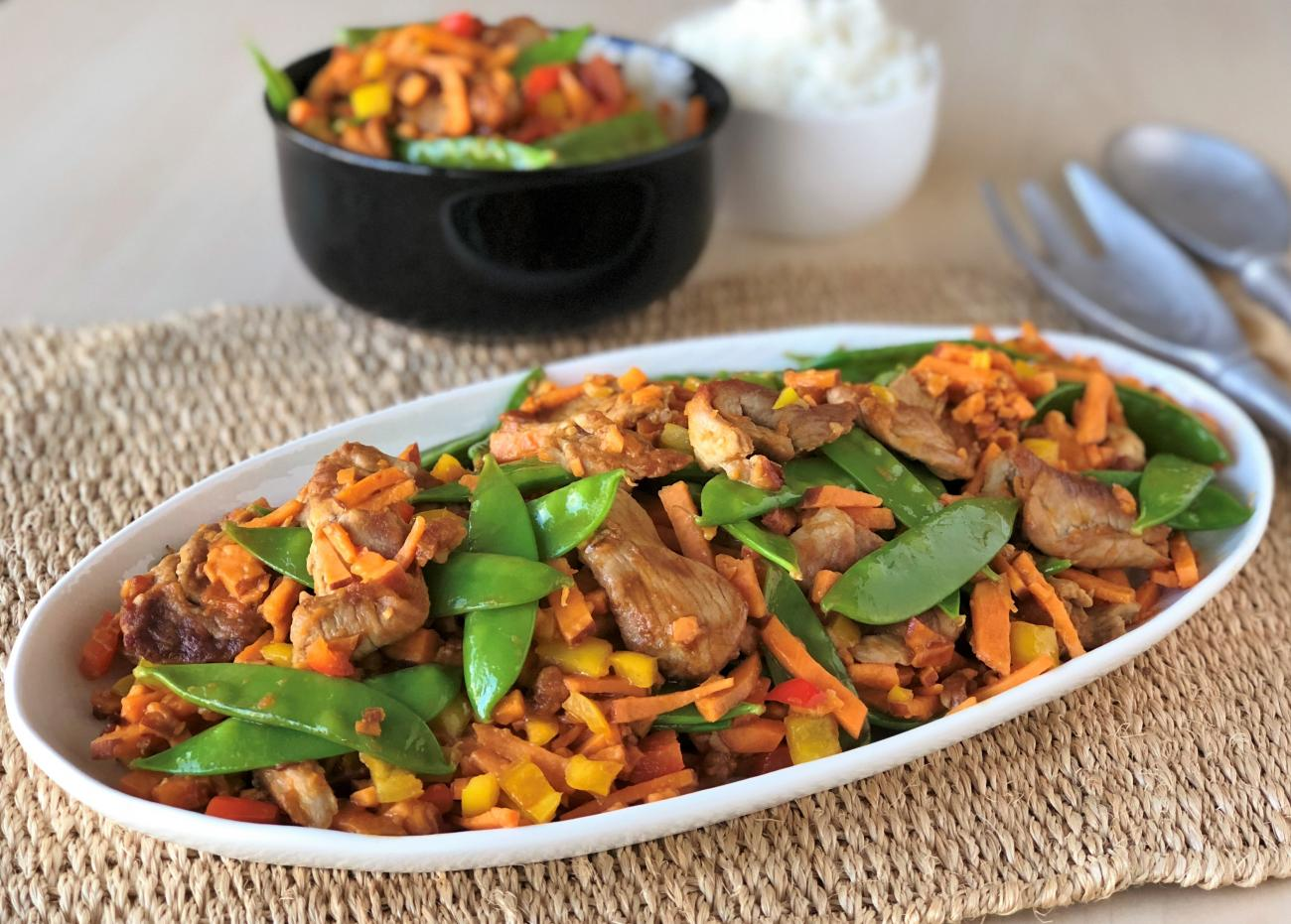 Pork and Sweet Potato Stir Fry