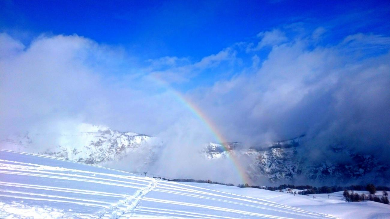 Rainbow in Winter