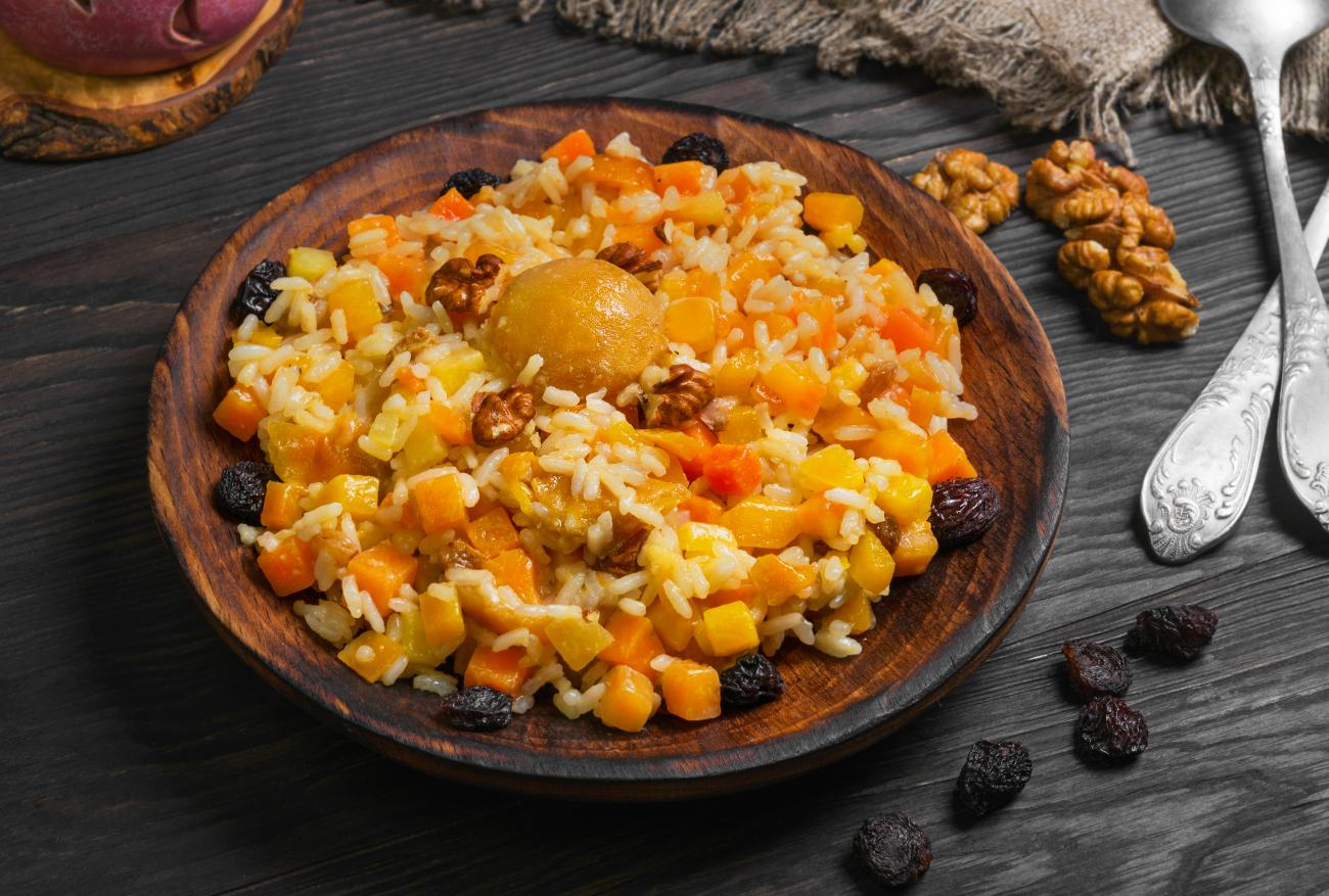Winter Squash and Rice Dish
