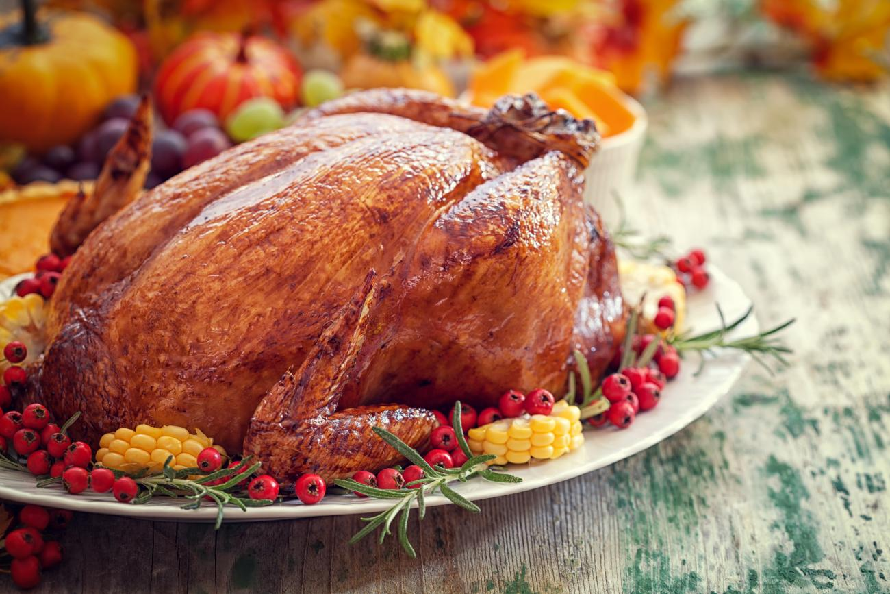 Roast Turkey With Corn