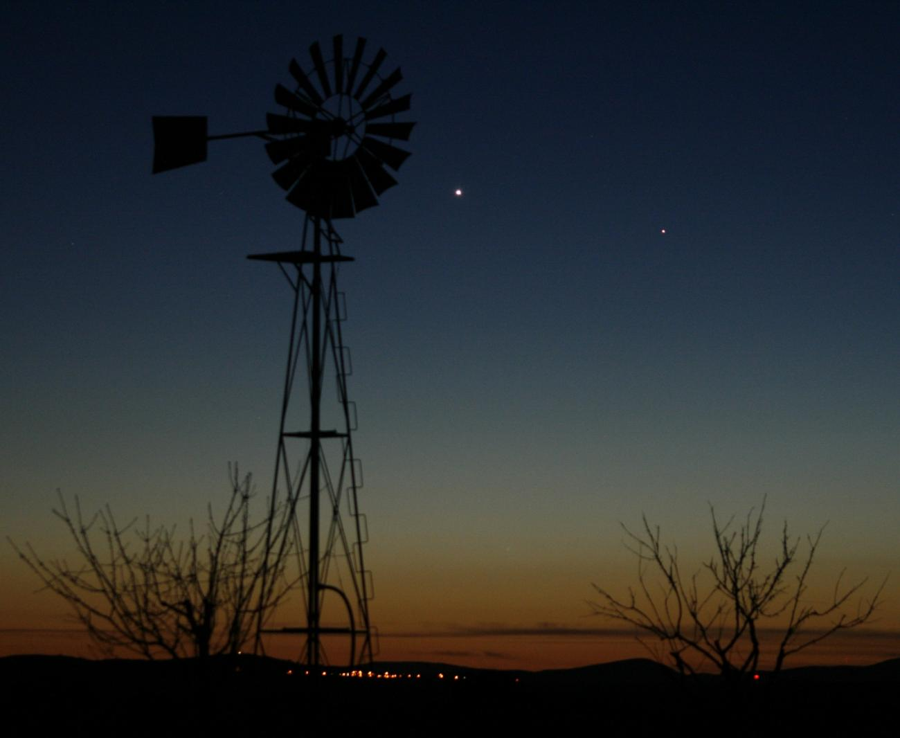 Mercury and Venus in the West