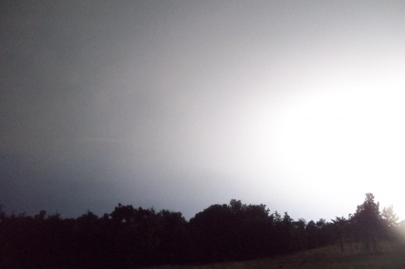 Close lightning strike