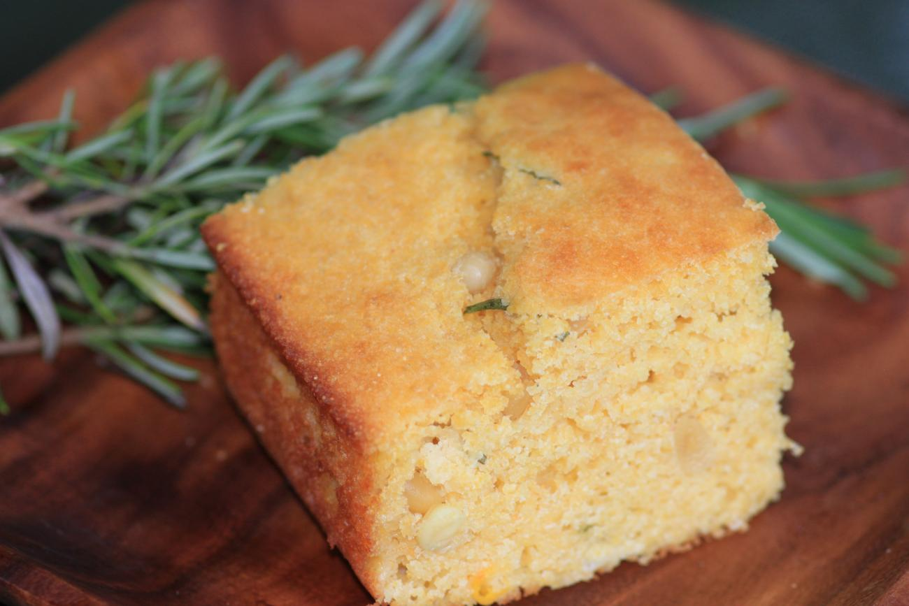 Corn Bread With Pine Nuts and Rosemary
