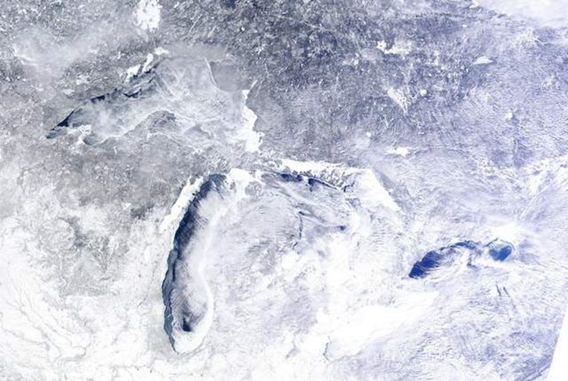 Frozen Great Lake