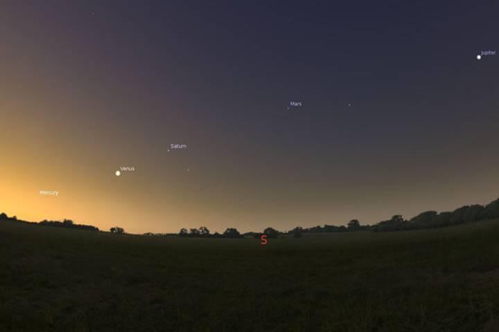 Five Planets Align in the Morning Sky