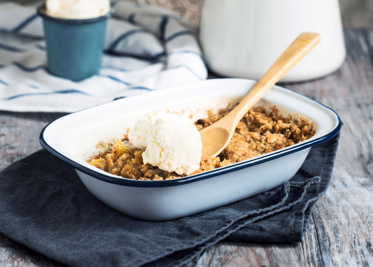 Recipe for Oatmeal Apple Crisp