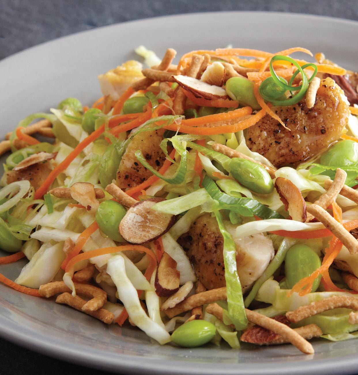 Recipe for Crunchy Asian Salad With Chicken