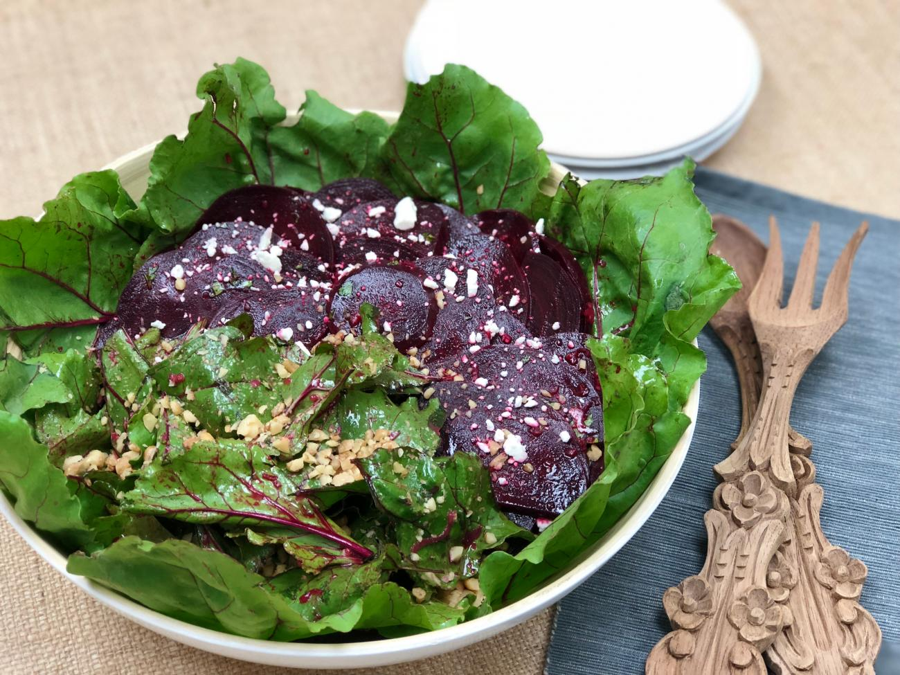 Recipe for Beet Green Salad With Beets
