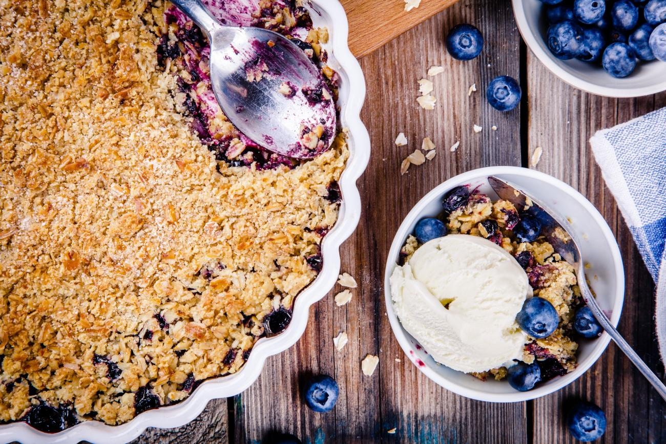 Recipe for Blueberry Crumble