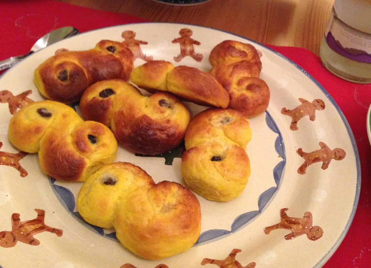 Recipe for St. Lucia Buns