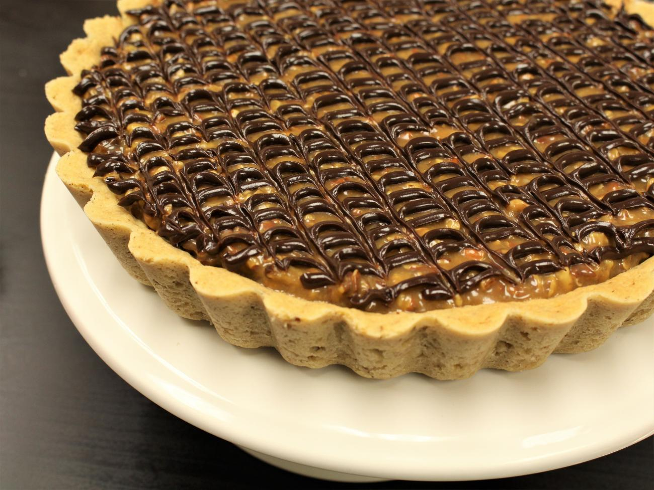 Recipe for Caramel Turtle Tart