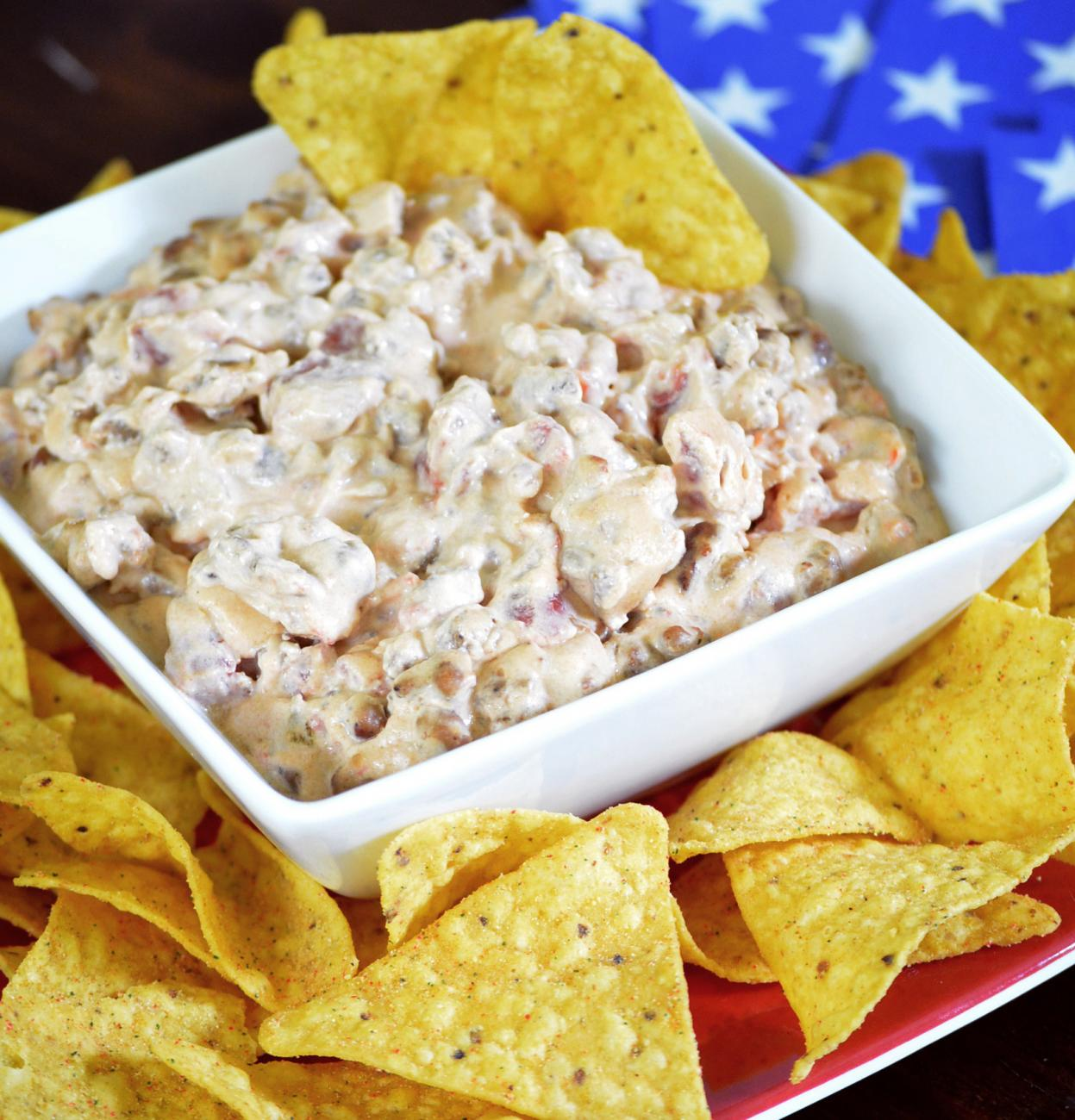 Recipe for Cheesy Sausage Dip