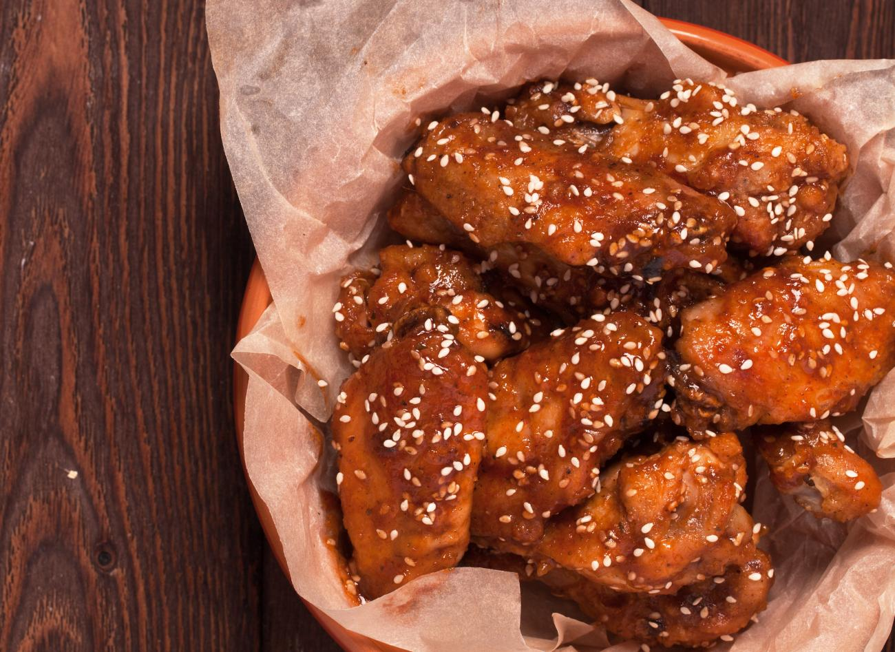 Recipe for Sesame-Ginger Chicken Wings