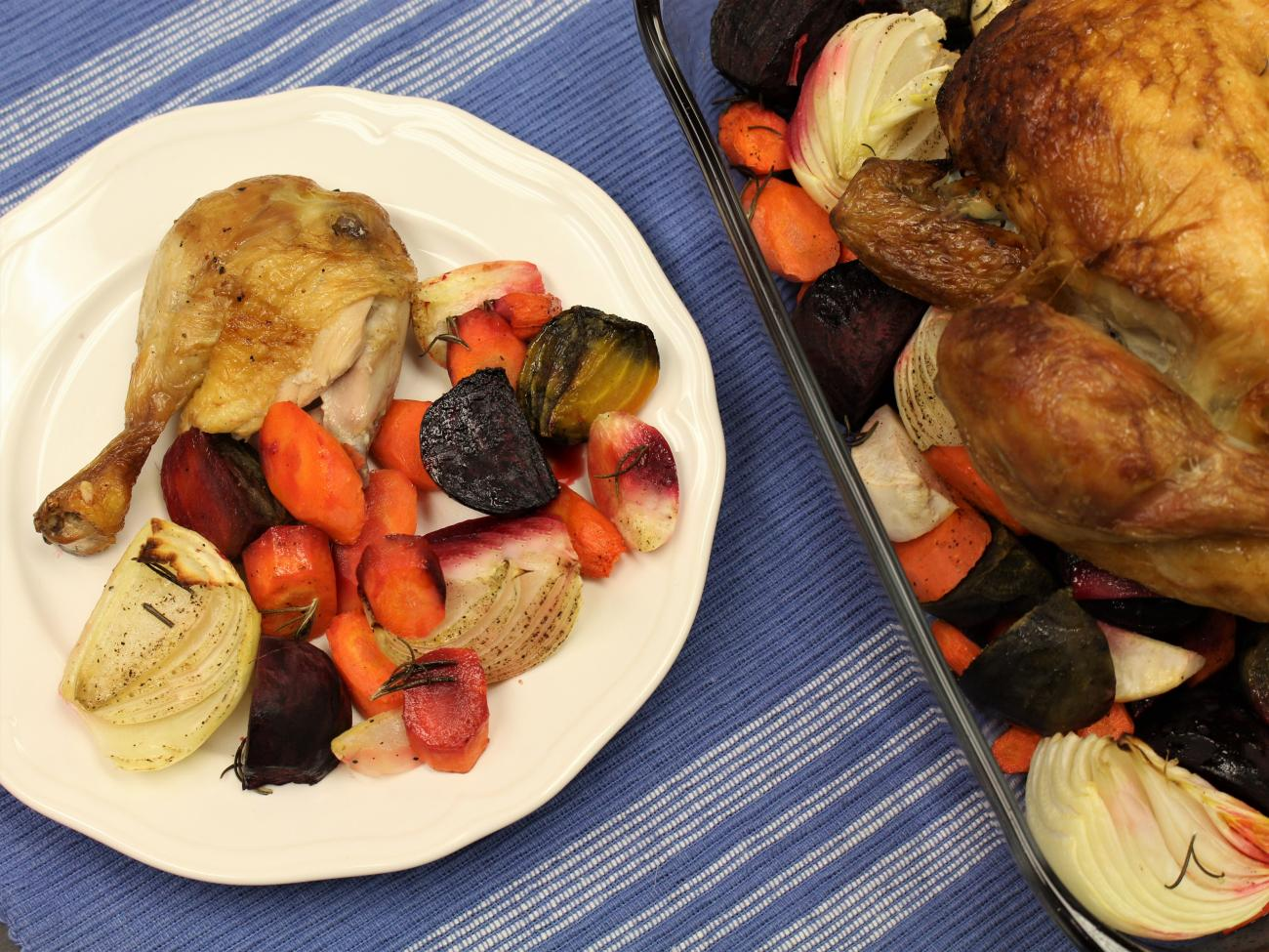 Recipe for Roasted Chicken with Root Vegetables