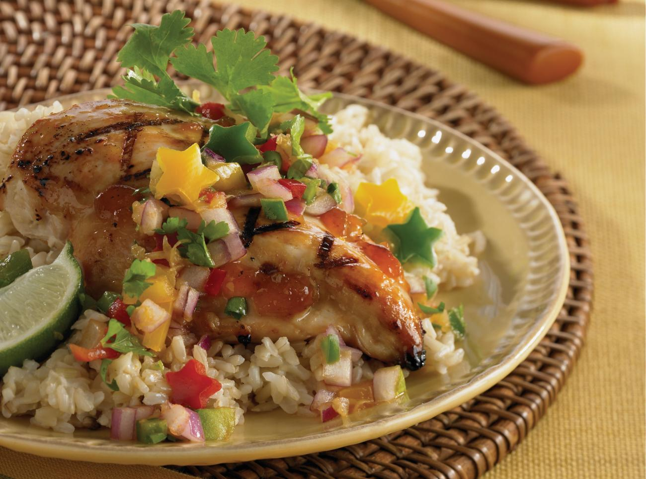 Recipe for Star-Spangled Chicken With Fireworks Salsa