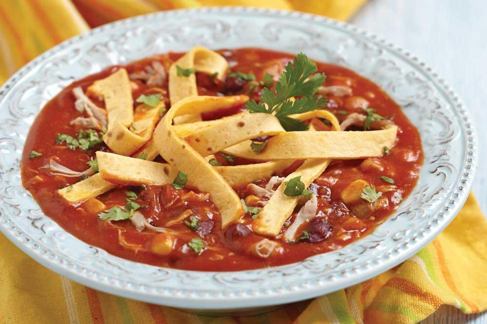 Recipe for Chicken Tortilla Soup With All the Fixin's