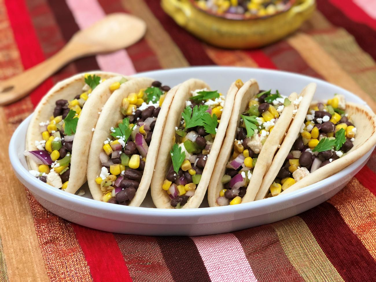 Recipe for Corn and Black Bean Pitas