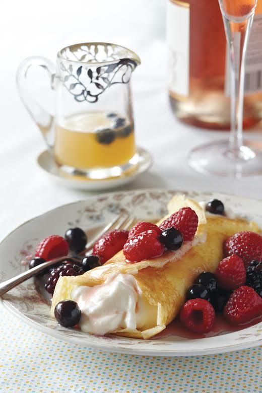 Recipe for Fancy Crepes With Berries in Grand Marnier Syrup
