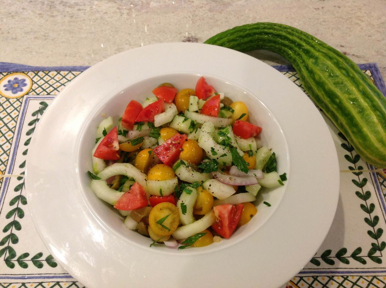 Recipe for Castilian-Style Cucumber and Tomato Salad