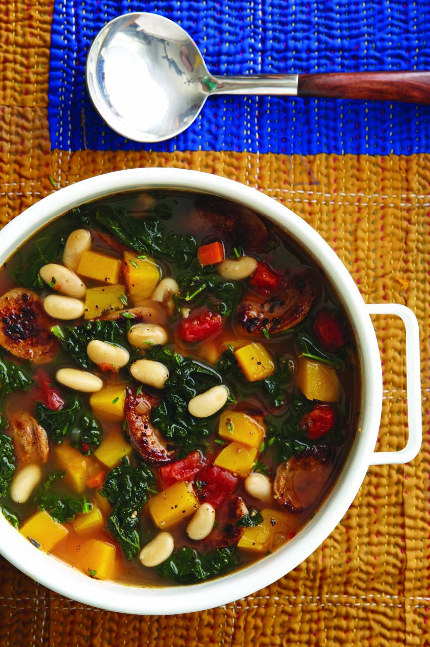 Recipe for Kale, Sausage, and White Bean Soup