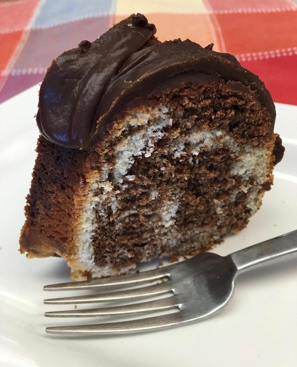 Recipe for Marble Bundt Cake with Chocolate Glaze
