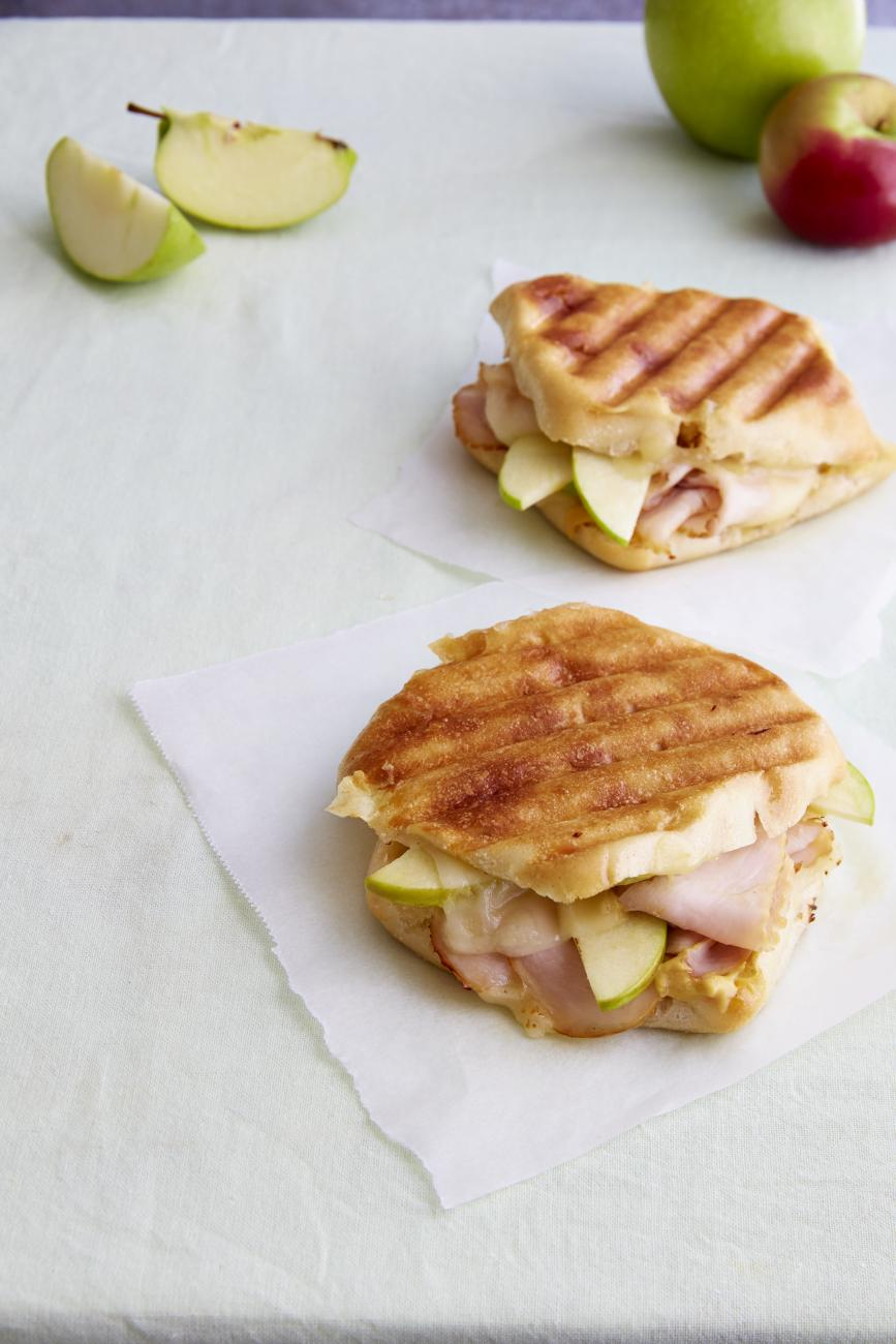 Recipe for Smoked Turkey and Green Apple Panini