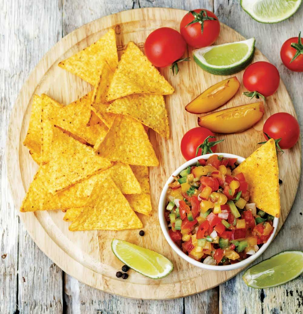 Recipe for Peach, Red Onion, and Tomato Salsa