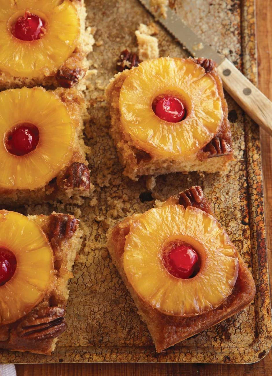 Recipe for Maple-Glazed Pineapple Upside Down Cake