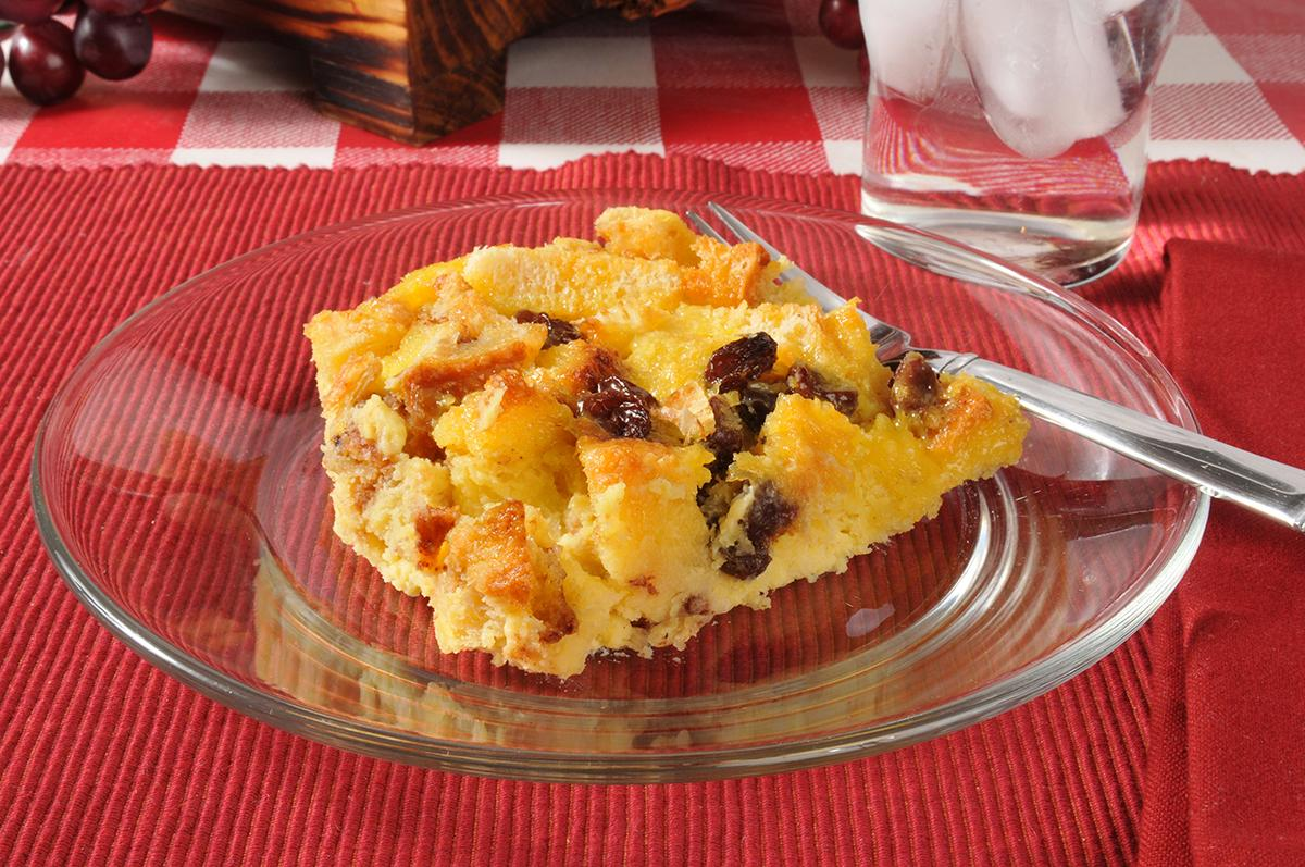 Recipe for Crockpot Bread & Raisin Pudding