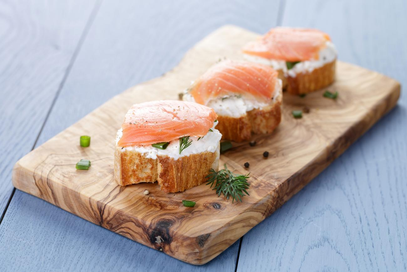 Recipe for Ricotta and Smoked-Salmon Bruschetta