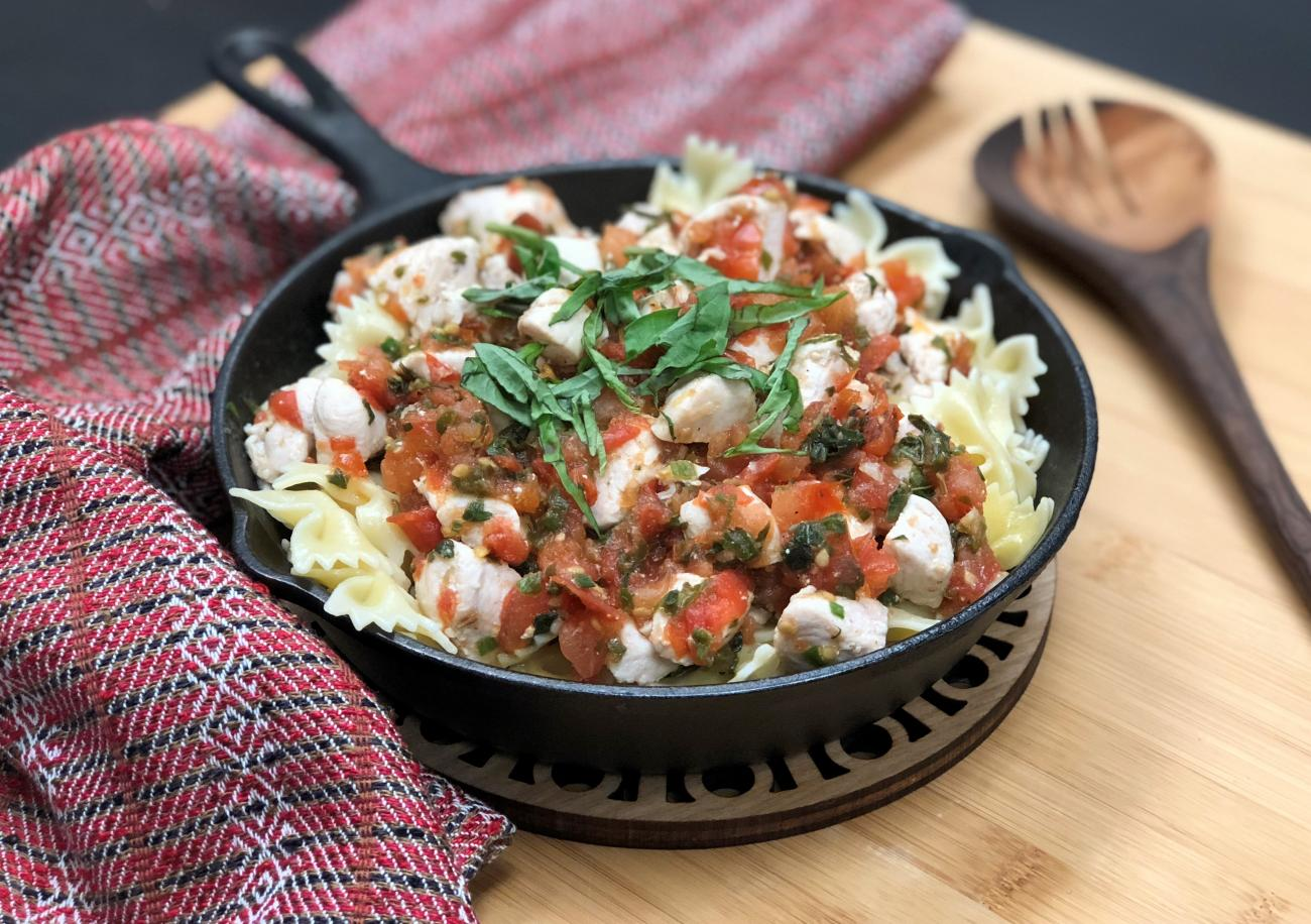 Recipe for Skillet Chicken With Fresh Tomatoes