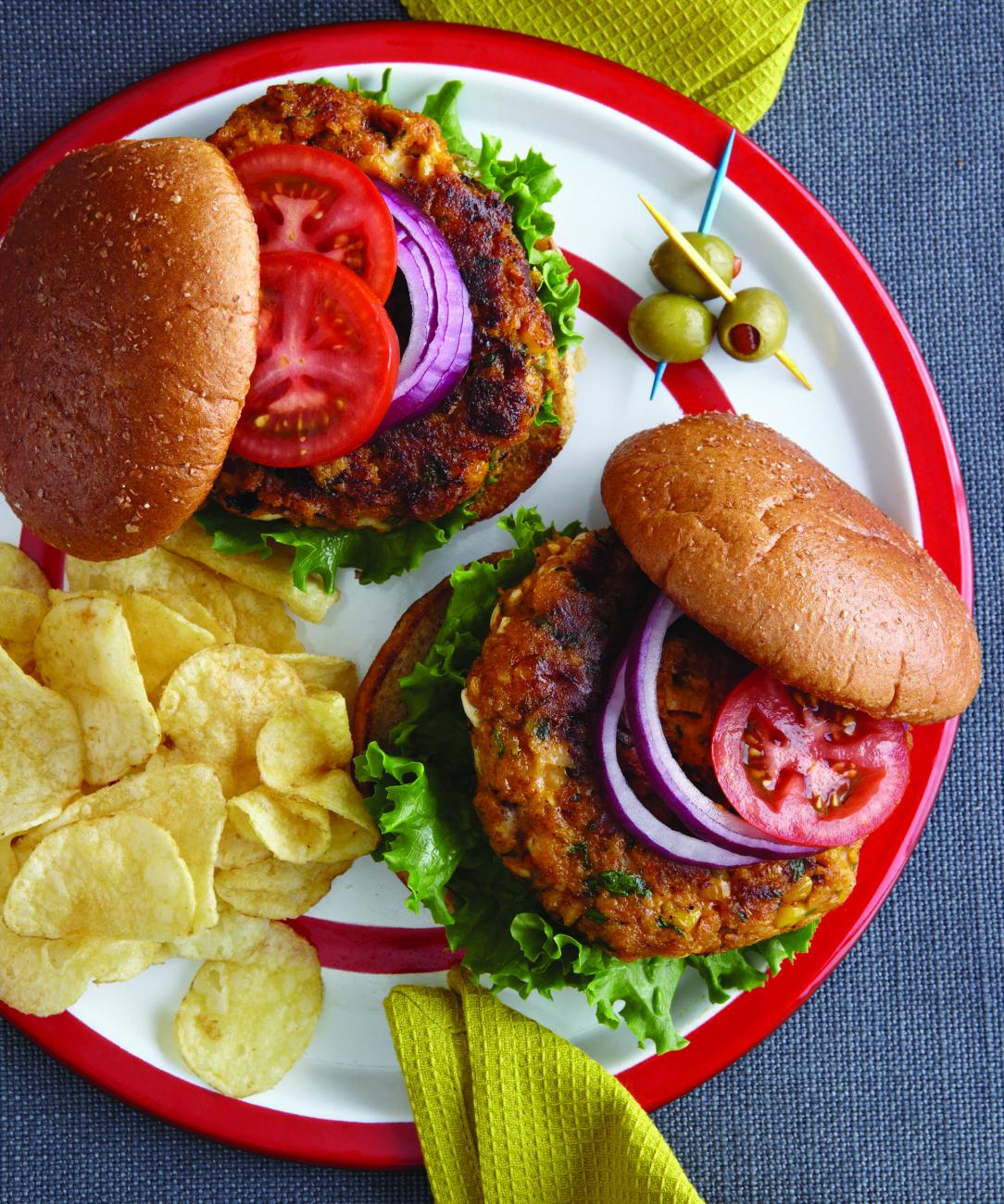 Recipe for Southwestern Pumpkin Burgers