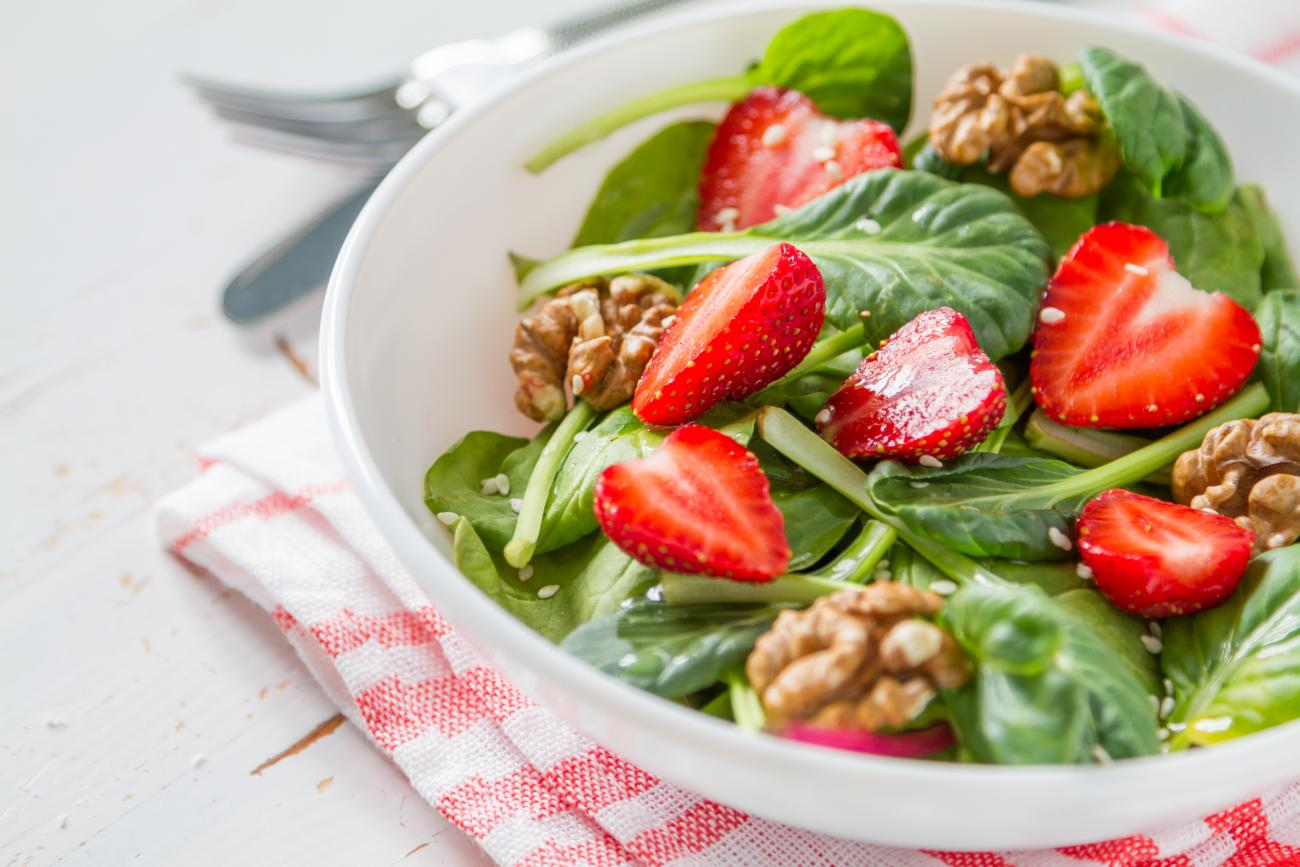 Recipe for Spinach-Strawberry Salad