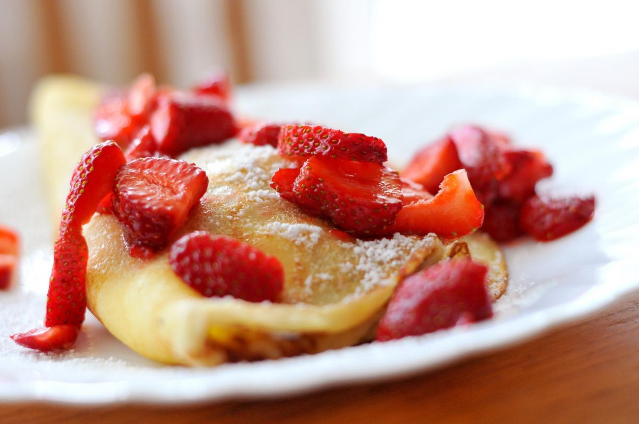 Recipe for Strawberry Crepes