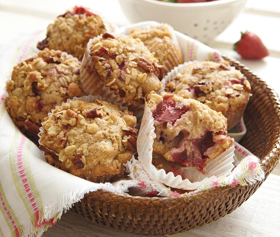 Recipe for Strawberry Crunch Muffins