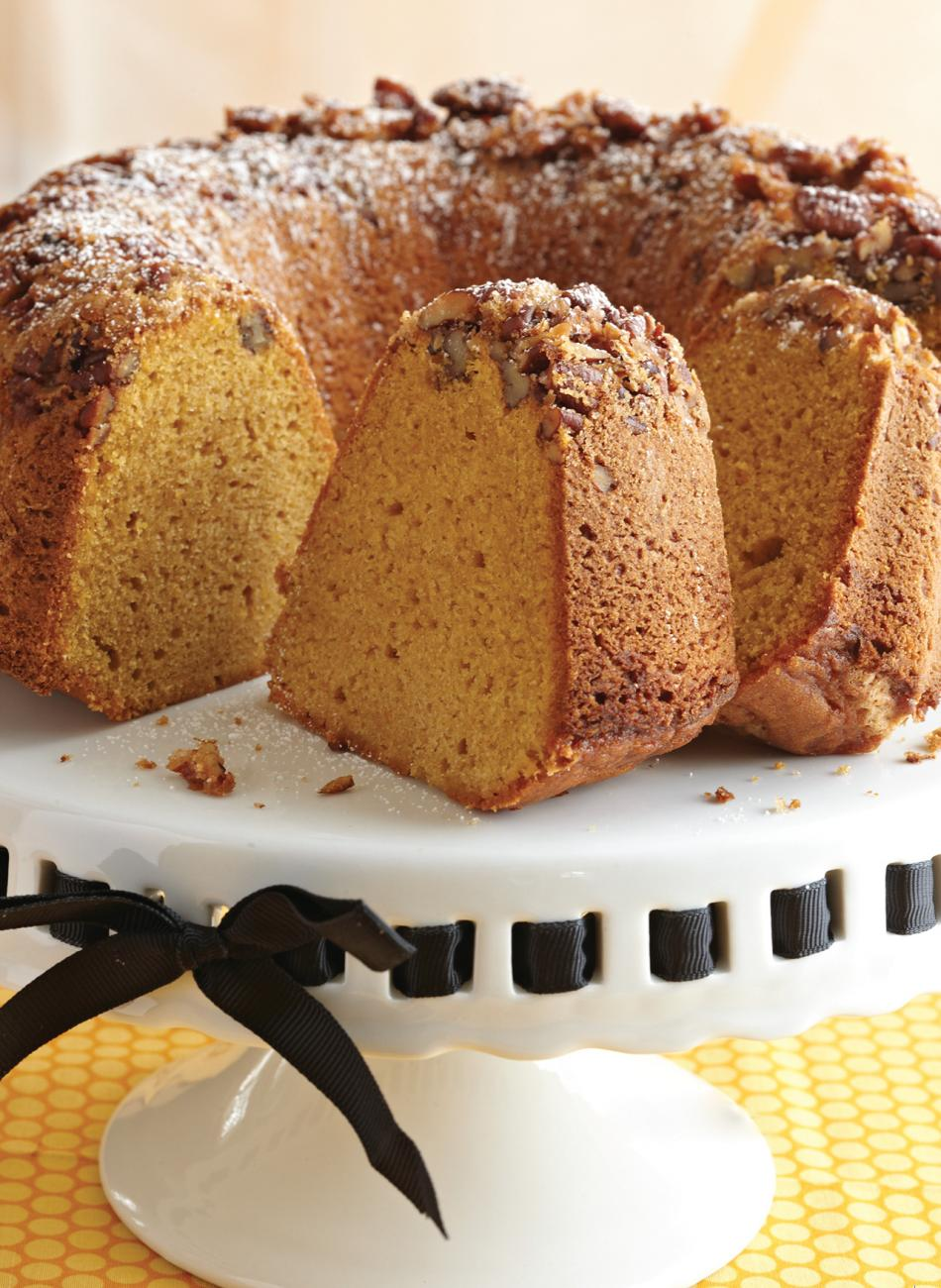Recipe for Pecan-Crust Sweet Potato Pound Cake